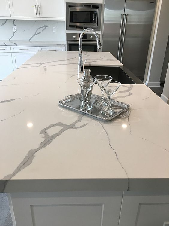 Snow Glass Tile Backsplash
