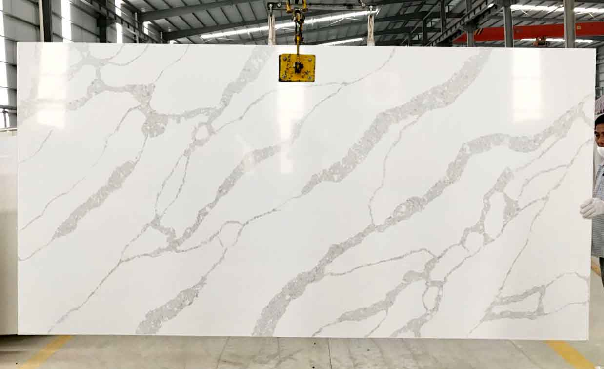 Statuario Calacatta White quartz countertops