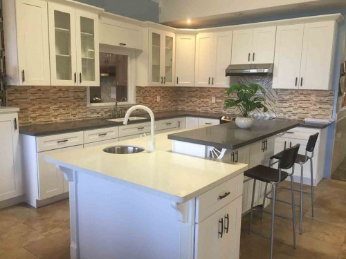 pure white quartz countertops