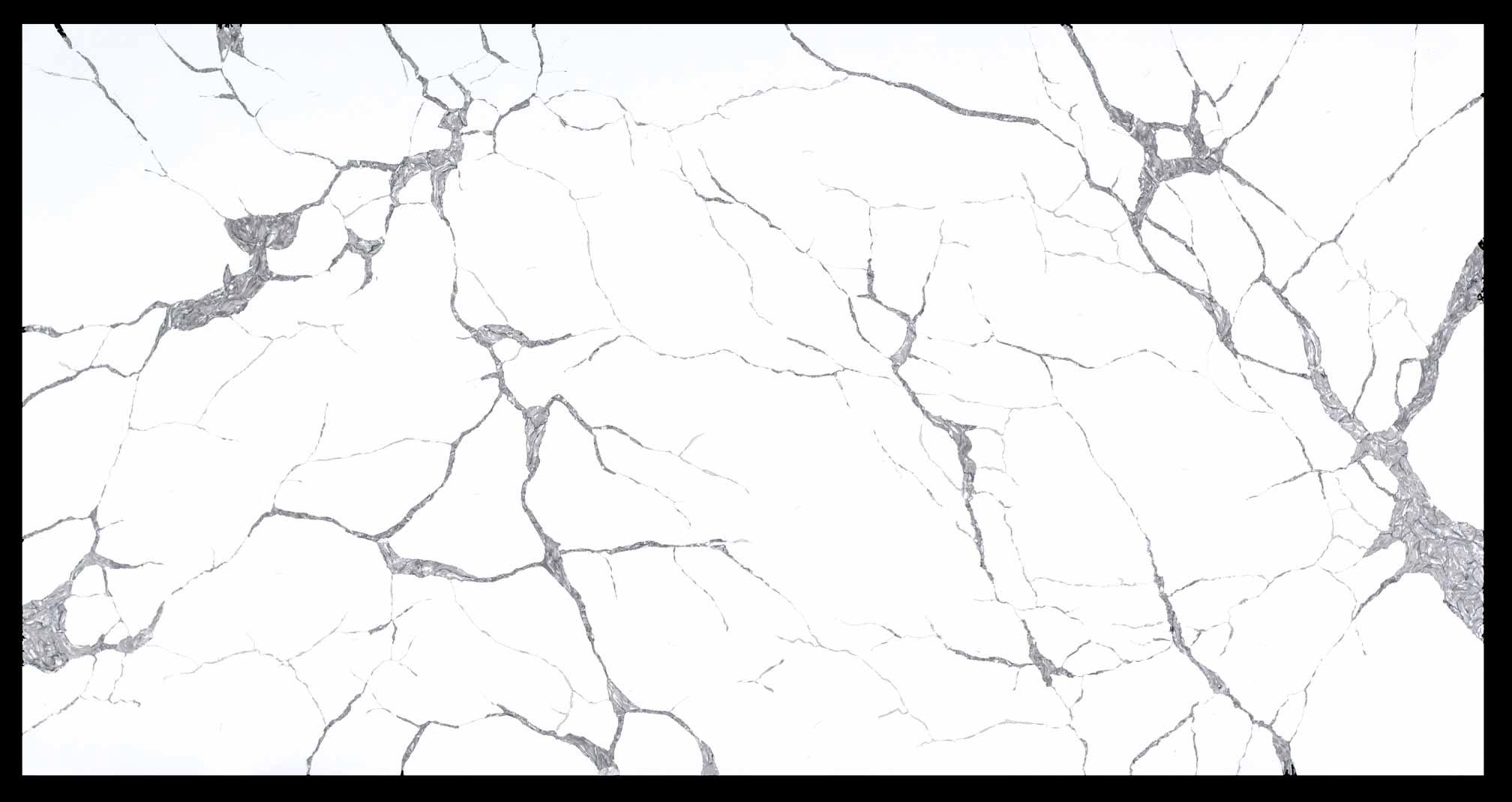 Invisible white artificial quartz