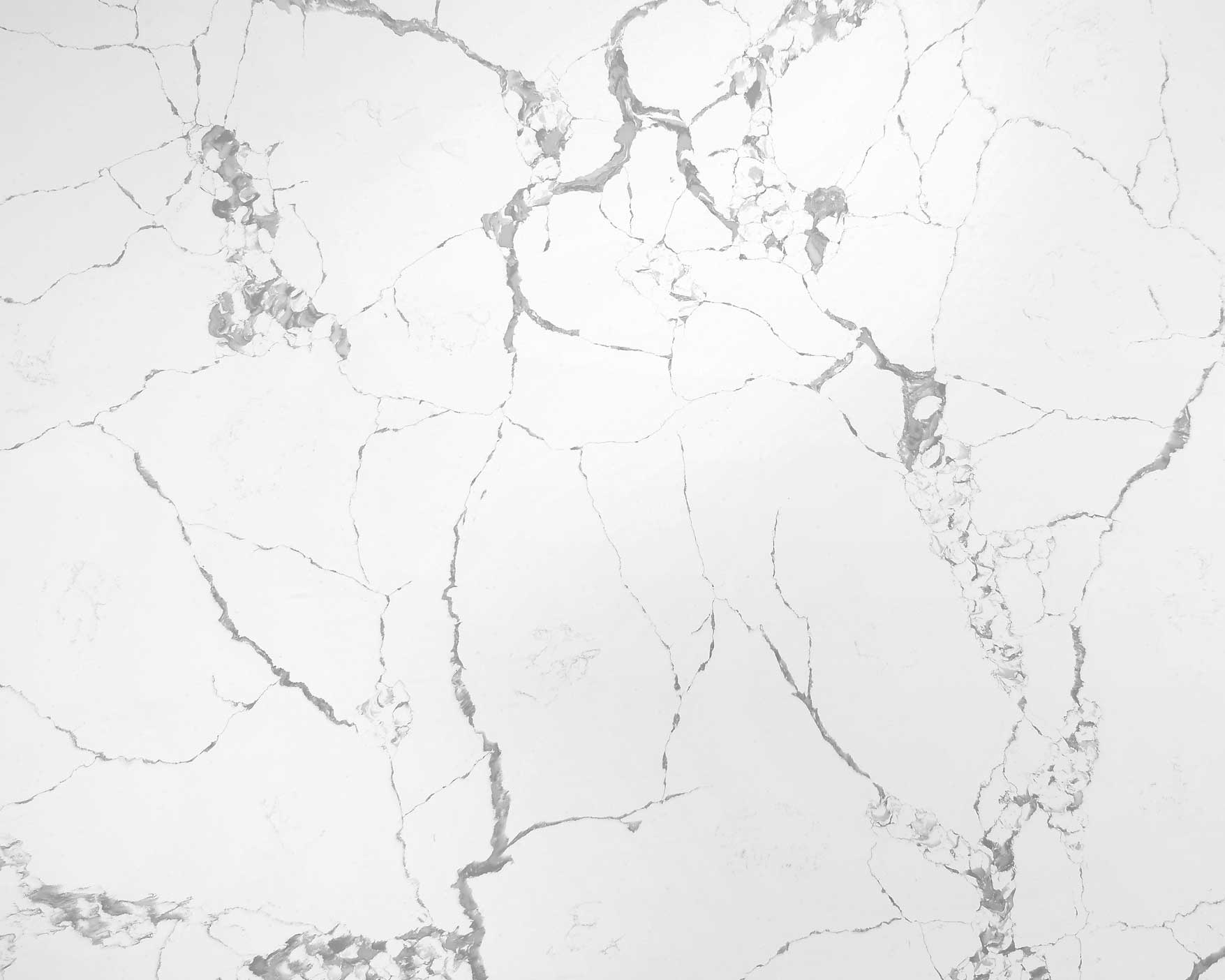 white marble-looked artificial quartz slabs