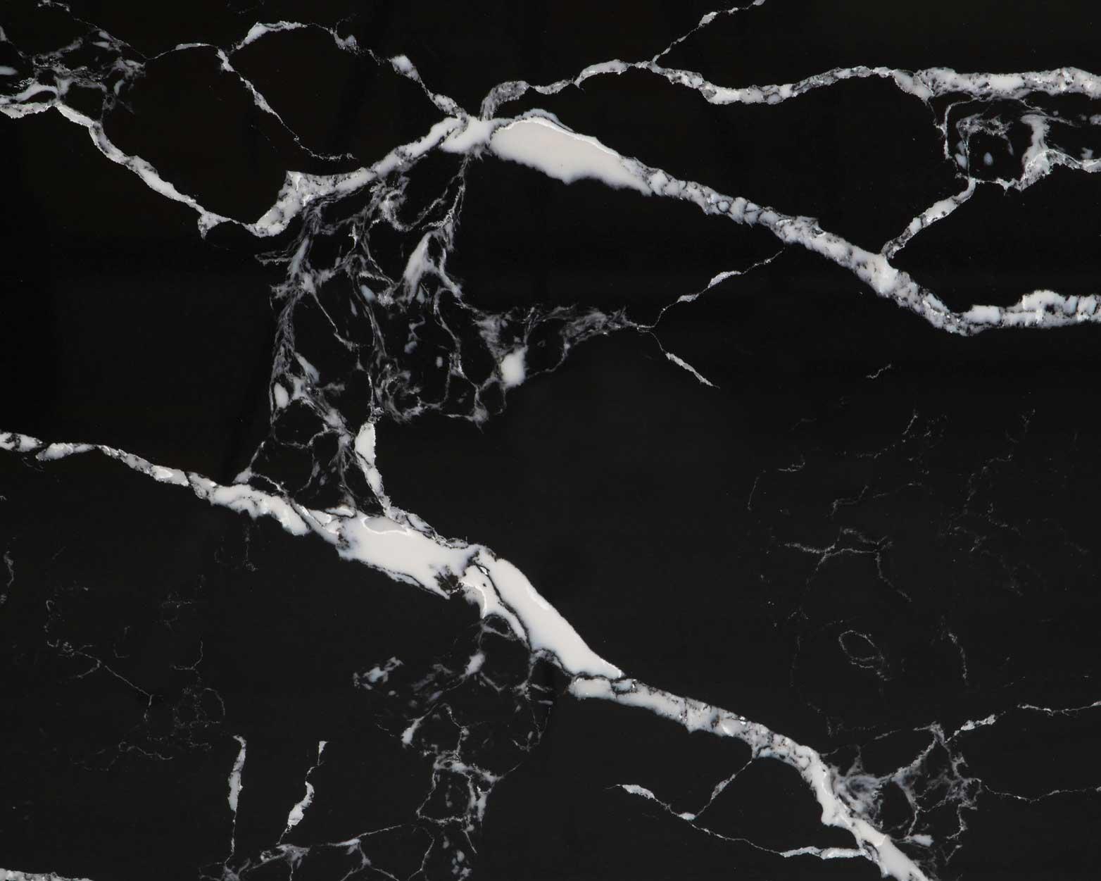 black artificial quartz slabs