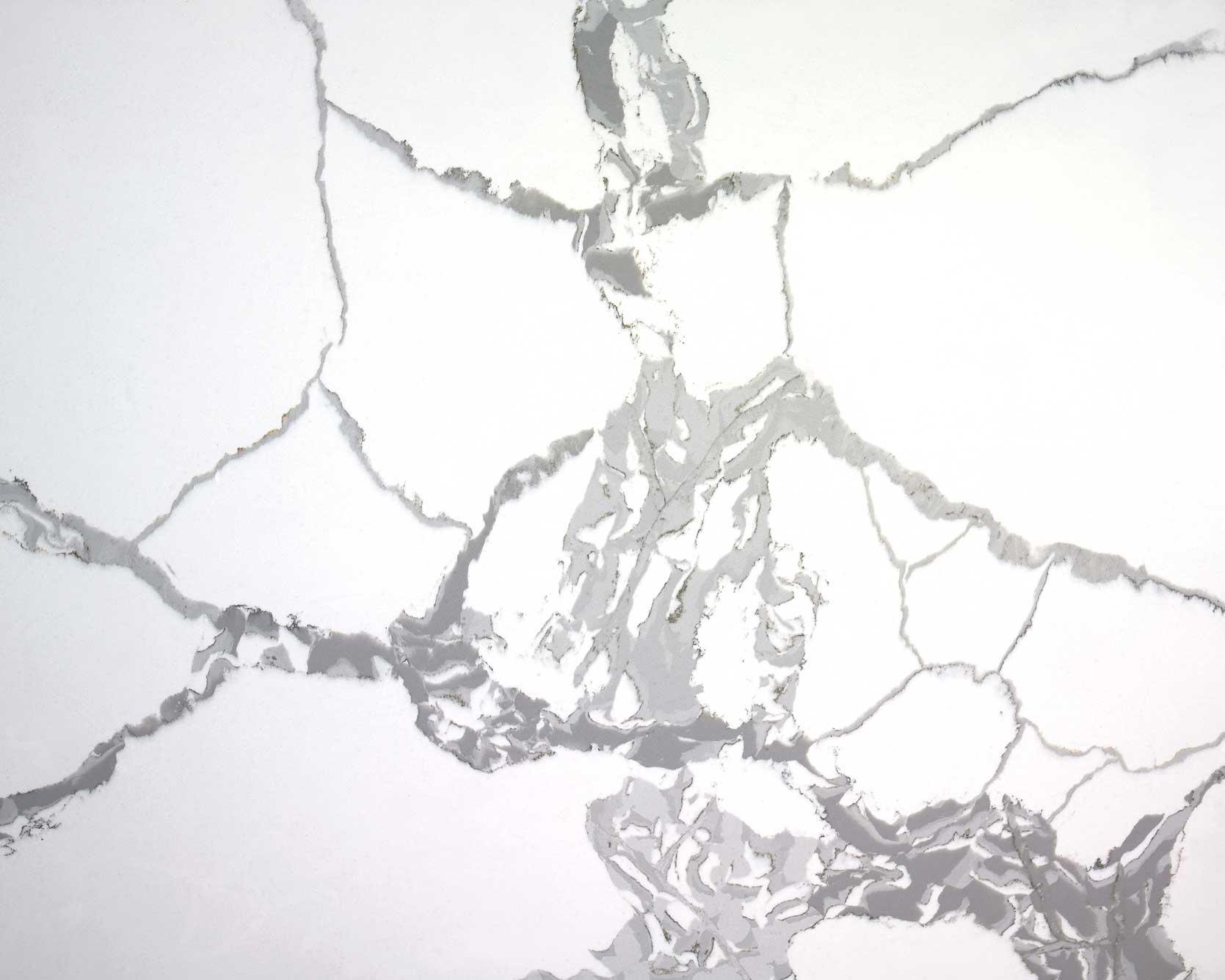 Carrara white artificial quartz